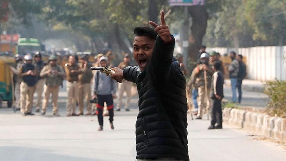 citizenship islamia protest against brandishes university outside
