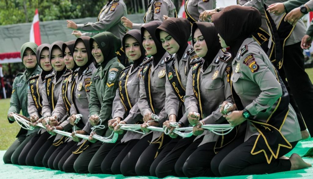 indonesia police woman women policewoman policewomen indonesian