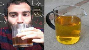 Harry Matadeen drinks two week old urine